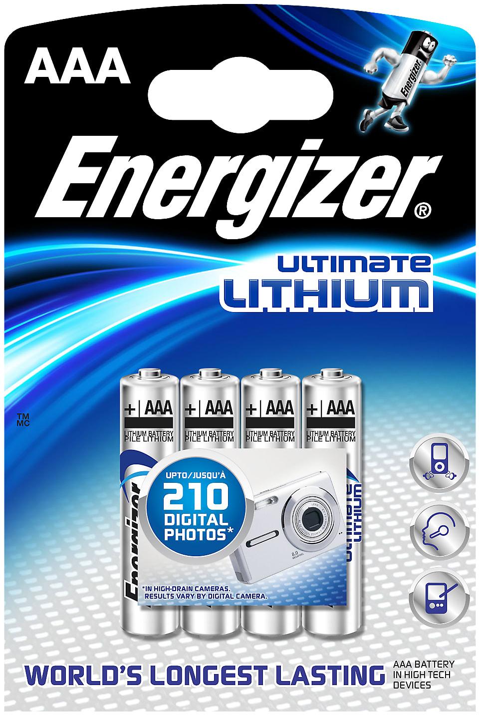 Batterier Energizer E92 Aaa Bp 4