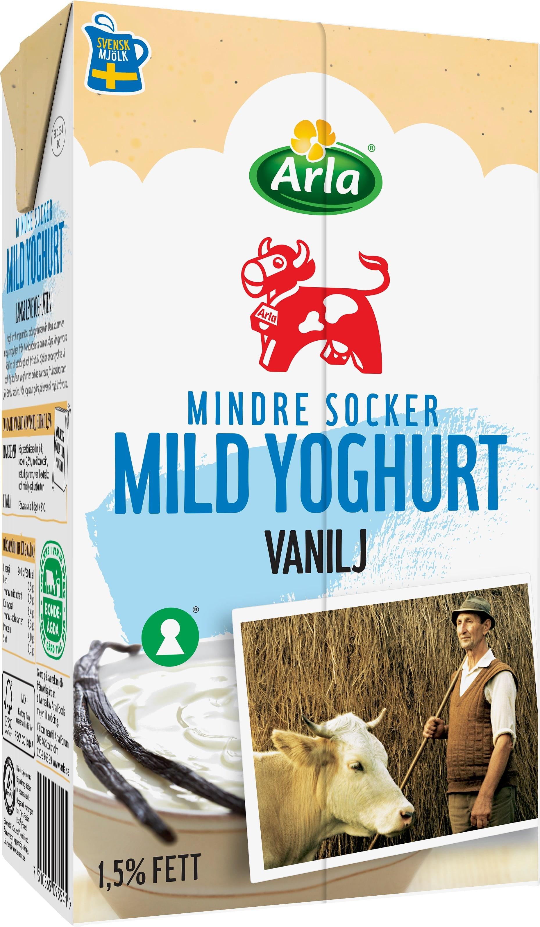 naturell yoghurt socker