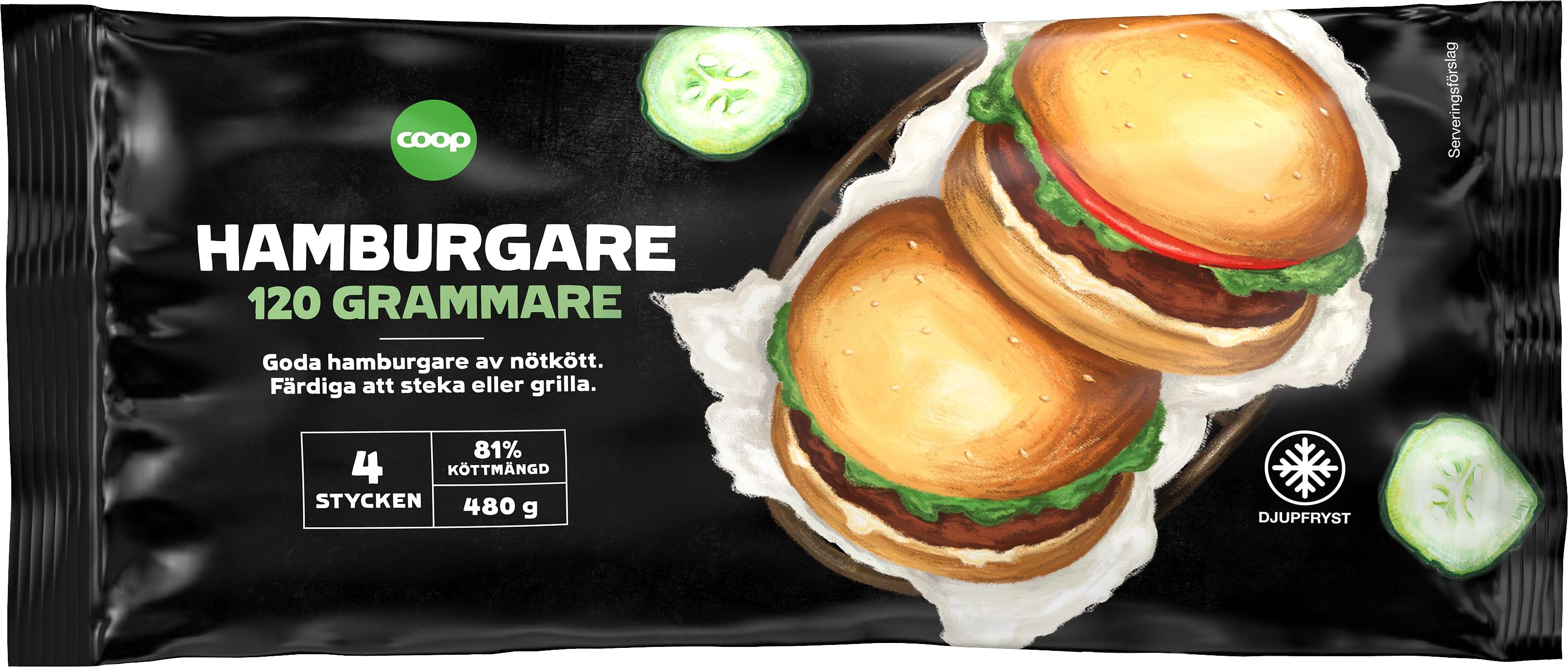 svenska hamburgare frysta