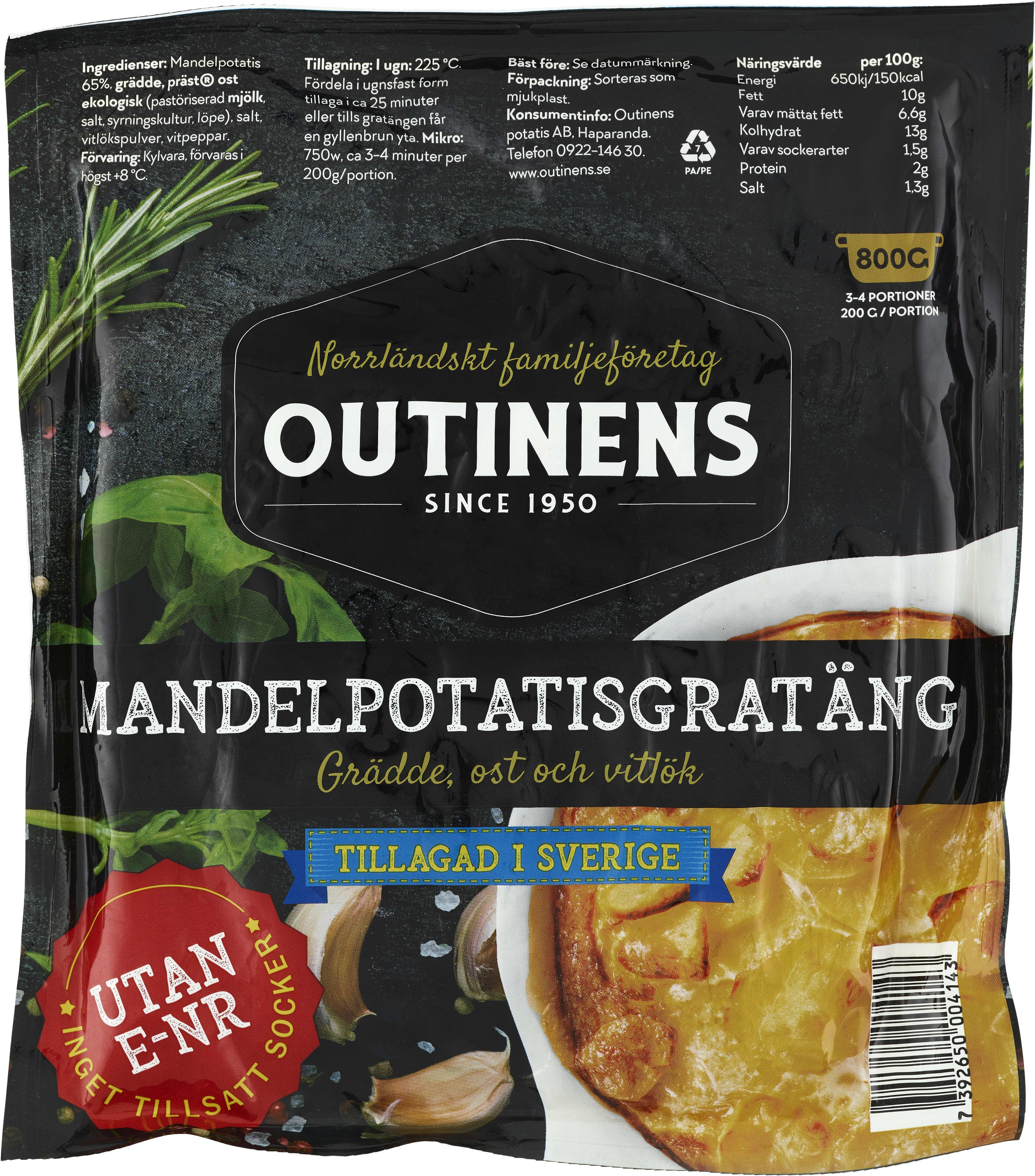 peka potatisgratäng innehåll