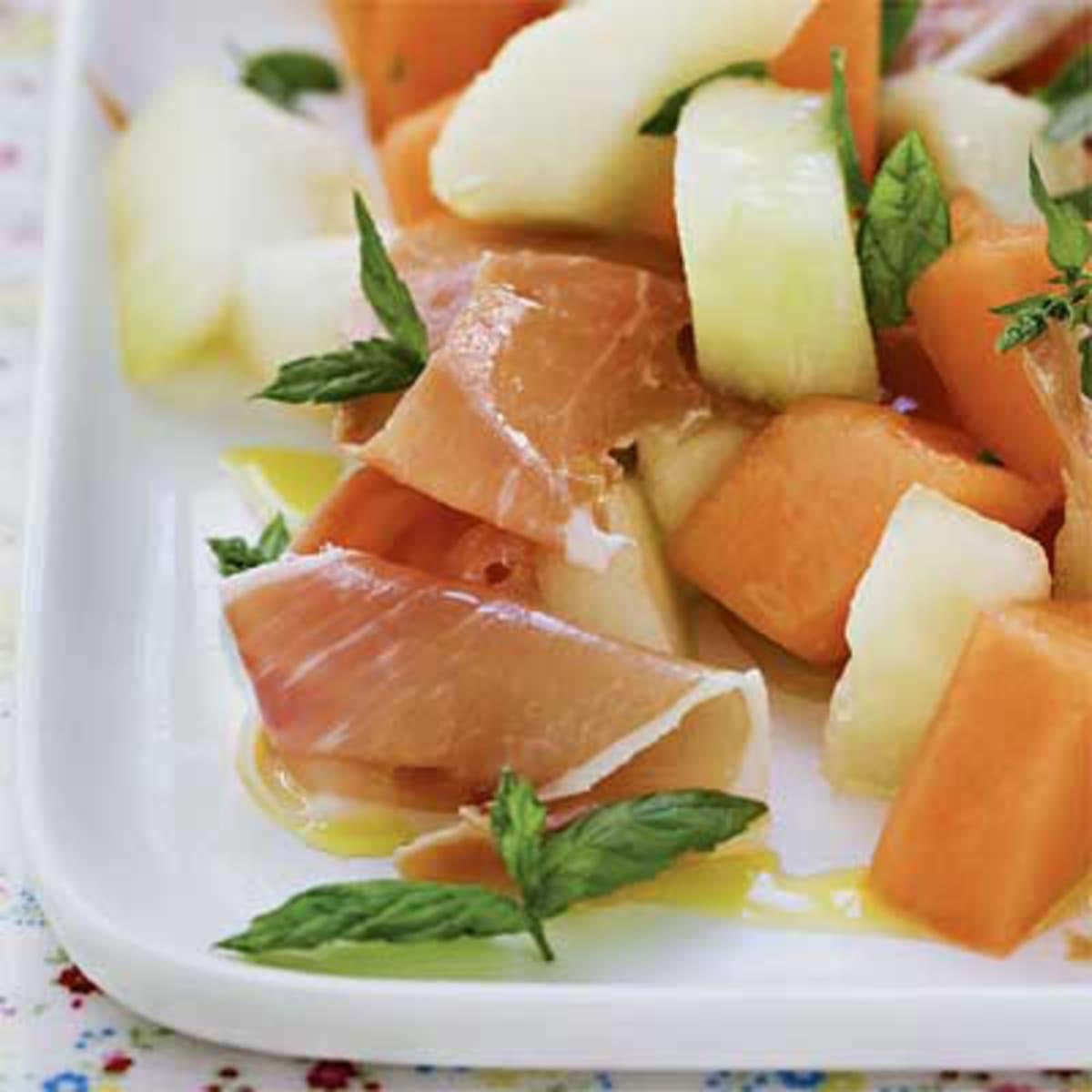 melon och skinka förrätt