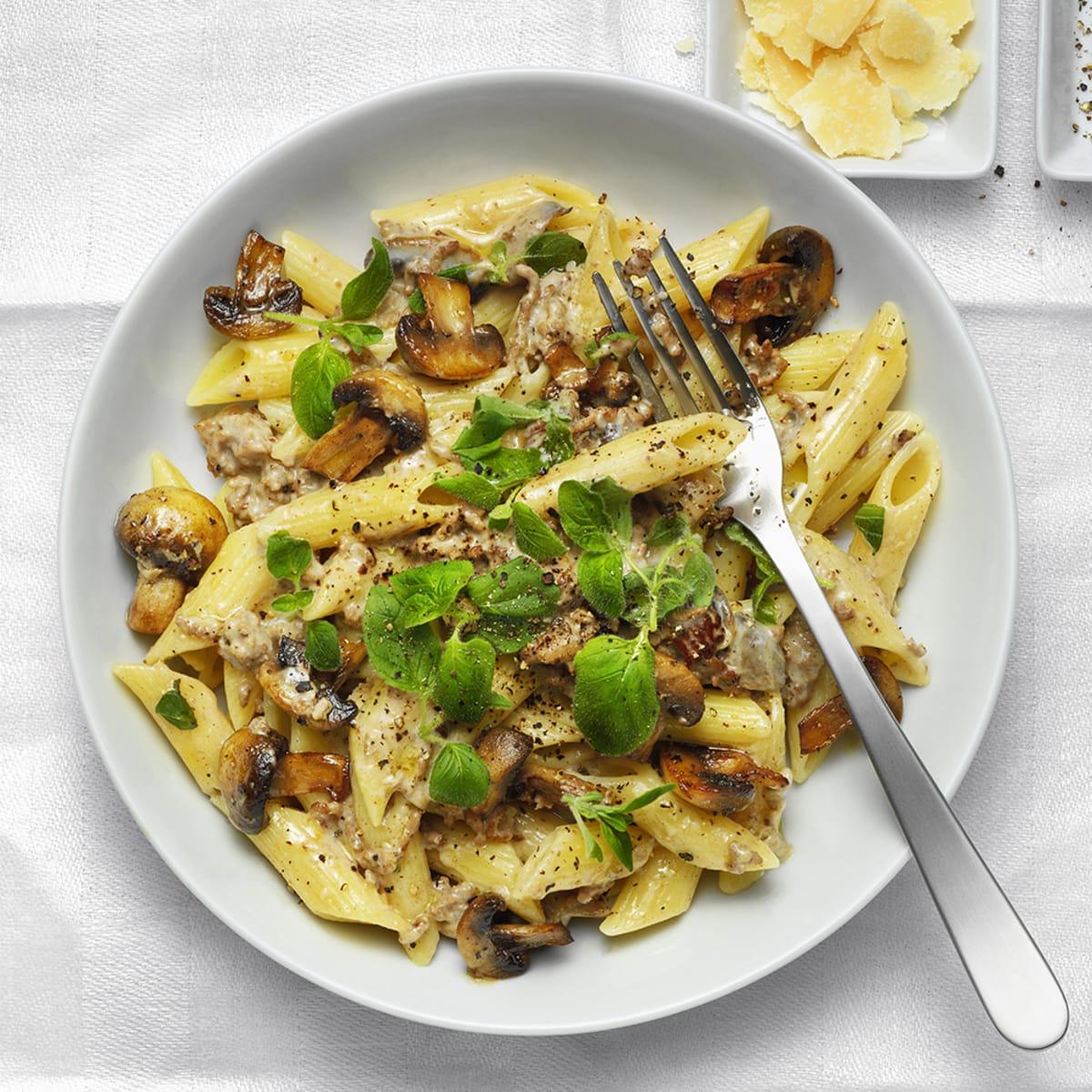 köttfärs med pasta