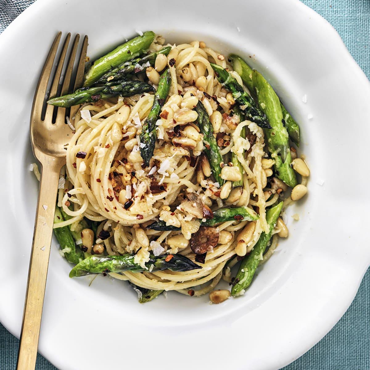 sparris pasta recept