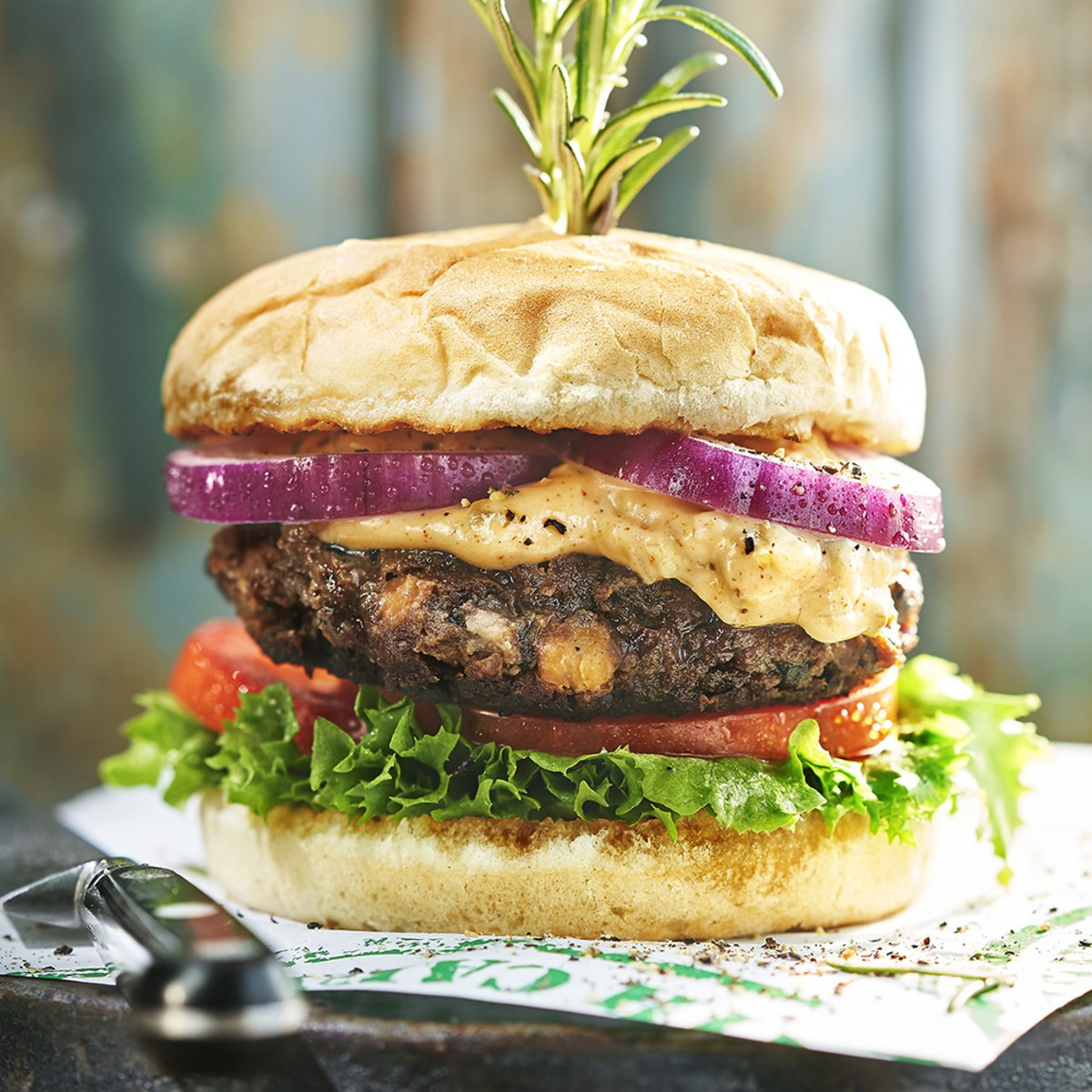 vegansk hamburgare recept
