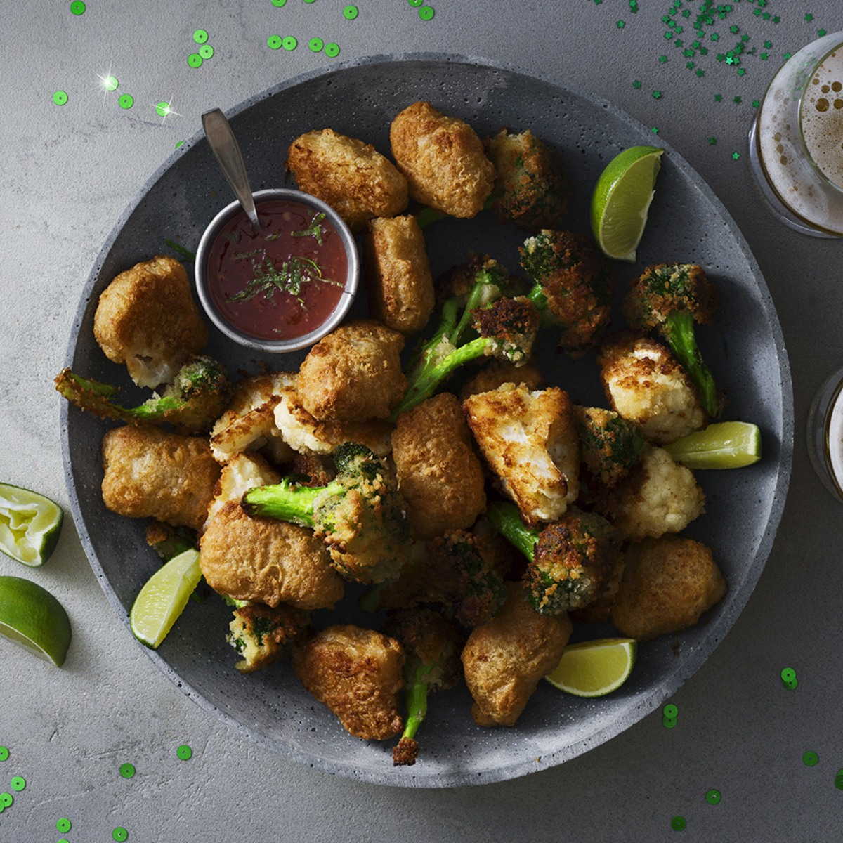 Fish nuggets med pankopanerad broccoli och blomkål | Coop