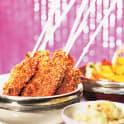 Sesamglaserade kycklingspett