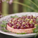 Cheesecake med krusbär