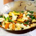 Grönsakswok med cashewnötter