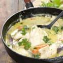 Pangasius i kokosmjölk och grön curry