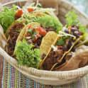 Nachos eller tacoskal med tacokryddad färs