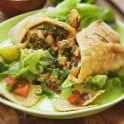 Burrito med fajitakryddad kyckling