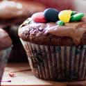 Chokladmuffins med strössel