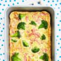 Omelett med skinka och broccoli