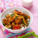 Indisk curry med falukorv