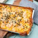Filodegspizza med sötpotatis