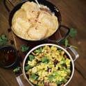 Indisk kycklinggryta med gult ris