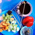 Chokladfondue med frukt