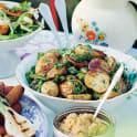 Rostad potatissallad med örter och vallmofrö