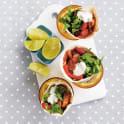 Kycklingwrap med salsa och vitlökssås