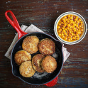 Potatis- och linsbullar med rårörda havtorn