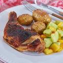 Kyckling med gurk- och mangosalsa