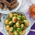 Saltrostade potatisar med örtolja