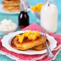 Amerikanska pannkakor med mango