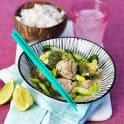 Frikadeller i asiatisk curry