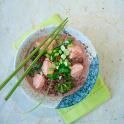 Asiatisk pilaff på rött råris med ångad lax