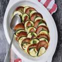 Zucchini och salvia med falukorv