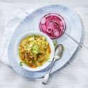Kycklingcurry med picklad rödlök
