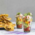 Mexikansk räksallad i glas