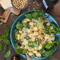 Kålrabbi med gnocchi, basilika och parmesan