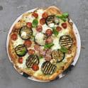 Vegetarisk pizza bianco på grillen