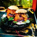 Portabelloburgare med karamelliserad lök