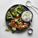 Grillad broccoli med kycklingfilé