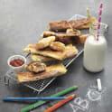 Filodegsrullar med ost och skinka