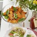 Orientalisk pumpasallad med fetaost