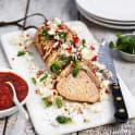 Helstekt fläskytterfilé med tomatsås och fetaost
