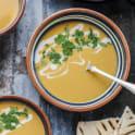 Sötpotatissoppa med rostad majs