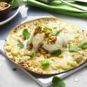 Tortillapizza med ananas och vit choklad