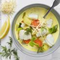 Soppa med torsk och pepparrot