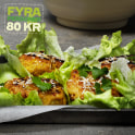 Chicken patties i salladsblad