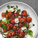 Grillade tomater med mozzarella