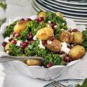 Rostad potatissallad med granatäpple och fetaost