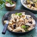Krämig pasta med linser och grönpeppar