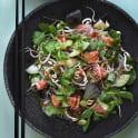 Sashimi nudelsallad