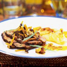 Bild på Lammstek med potatis- och svartrotsgratäng