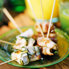 Bild på Snacksticks med musslor/bacon och getost/zucchini
