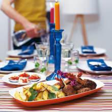Bild på Kebabklubbor med potatisklyftor och tomatsalsa
